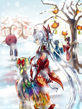 Winter Festival (Happy New Year!) by sageleaf1987
