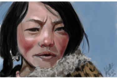Woman with leopard Coat by AerithsSpirit