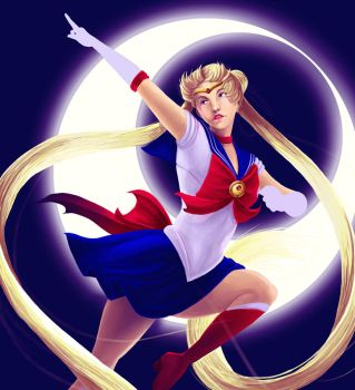 Sailor Moon WIP by SueWithers