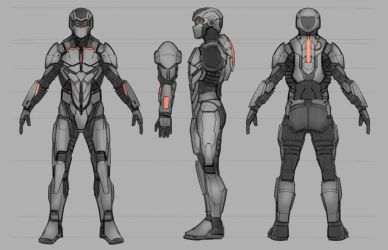 Commission: Deadspace-inspired Combat Suit by VincentiusMatthew