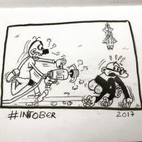 Inktober 2017, Day 11, Run by maestromakhan
