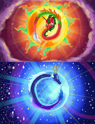 Sun and Moon Dragons by Airista