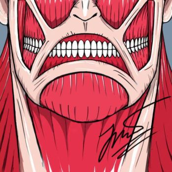 Grimace of Colossal Titan by Raydhen