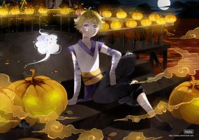 .CC.Halloween night at the harbour. by Hetiru