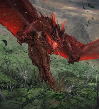 Red dragon (Glimpse of luna card illustration) by ThemeFinland