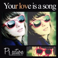 Your love is a song action by Hesavampire
