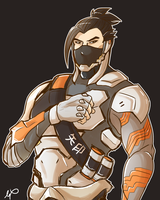 Cyber Hanzo - Overwatch by xxMi-ChansArtxx