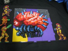 Metroid 0 Mission Perler Beads by Buck-Chow-Simmons
