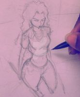 Foreshortening sketch - Maria by silrance