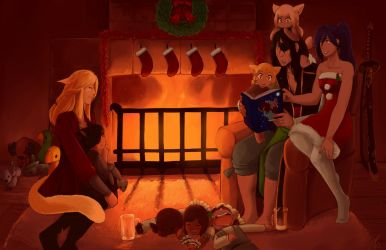 Fontaine Family Christmas by Shadottie