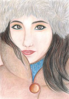 Portrait of girl by Tovika