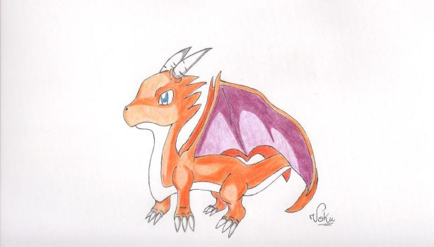 Voku - the fire dragon- by Tomate89