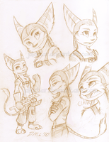 Ratchet scribbles by HybridAlchemist