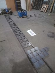 25 foot steel sign project by braindeadmystuff