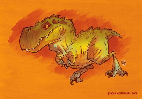 Dino Power In Color by RobbVision