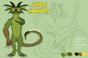 NHYRIN THORNHEART REFERENCE [D+D] by OokamiMonster