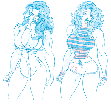 She-Hulk Sketches by comixmill