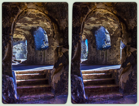 Elf Castle Regenstein 3-D / Stereoscopy / CrossEye by zour