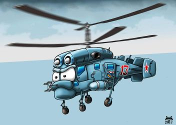 Tough Little Kamov! by Artraccoon
