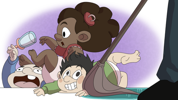 Baby Mopping by Stewartoons