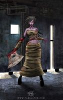 Zombie Axe Girl by FASSLAYER