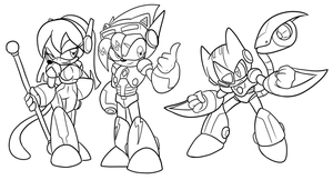 COM Reploid Stryke Team by ChaosCroc