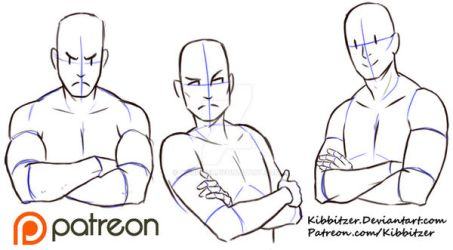 Crossed Arms reference sheet by Kibbitzer