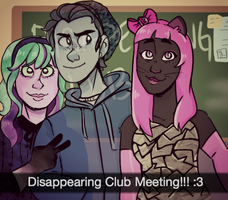 Disappearing Club Selfie by pastelsl0th