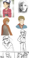 The Walking Dead Game Doodle Dump by Gumwad201