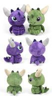 Sitting Dragon Plush by SewDesuNe
