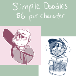 Simple doodle commissions by Braang
