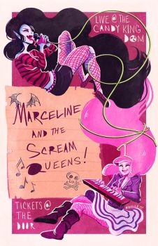 marceline and the scream queens! by papier-crane