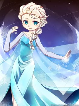 [Request] Queen Elsa by PepperMoonFlakes