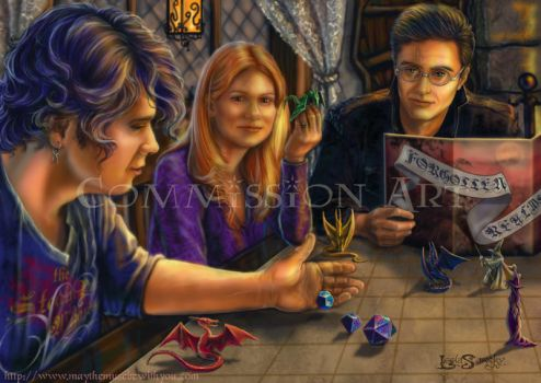 Playing Dungeons and Dragons. by leelastarsky