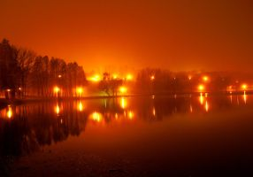 Foggy night by dianora