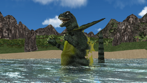 [MMD DL] Ultra Kaiju - Jirass by BigJohnnyCool