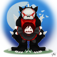 Chibi Ruby and Beowolf by Mikari131