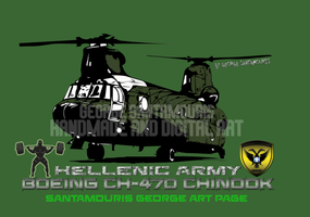 Hellenic Army Ch-47d Chinook by SANTAMOURIS1978