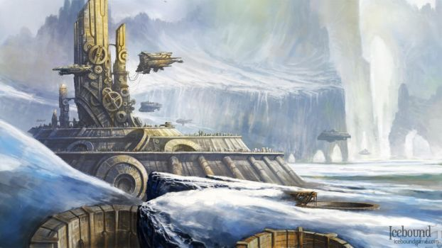 Icebound - Capital of Sanctum by SundownKid
