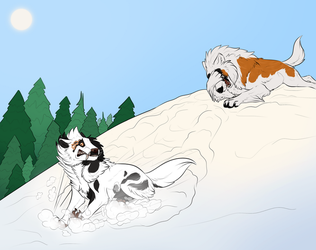 Slippery Slopes by JadeRavenwing