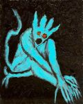 Blue Devil poses suggestively by gollum42