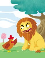 Lion and Chicken by hanno