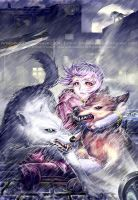 Wolf's Rain cover by dreamwave22