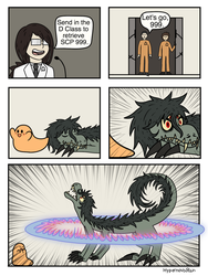 SCP-682 and SCP-999 page 5 by HypernovaRain
