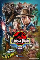 JURASSIC PARK - MOVIE POSTER by kyle-lambert
