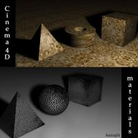 Cinema 4D Materials by kazugfx