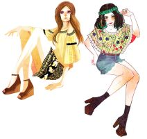 Summer It Girls by muse33