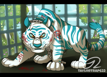 Art Trade - Teal (Tiger Form) by TaylorTrap622
