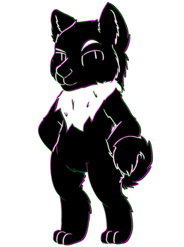 Cryptid pup by Bright-lightz