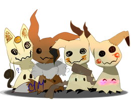 Mimikyu Squad by IntestineBowties
